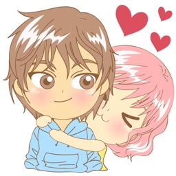 Love couple sweet romance 2 for iMessage Sticker