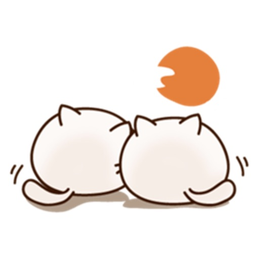 Round Cat And Friends Stickers