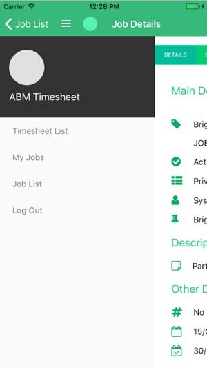 abm mobile timesheet をapp storeで