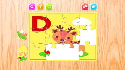Alphabet A-Z Animals Jigsaw Puzzles for kids app image