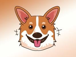 React with cute corgioji - Corgi emoji Dog Stickers and Emojis Pack2