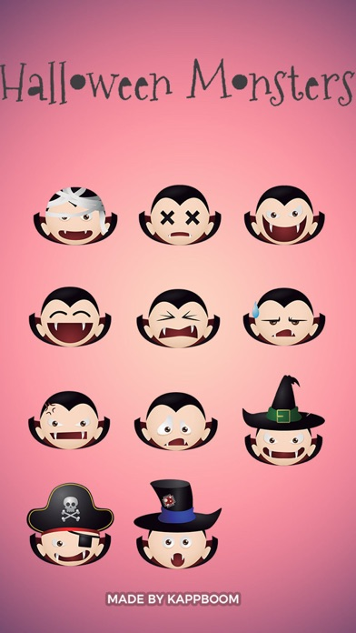 Halloween Vampire Emoticons screenshot two