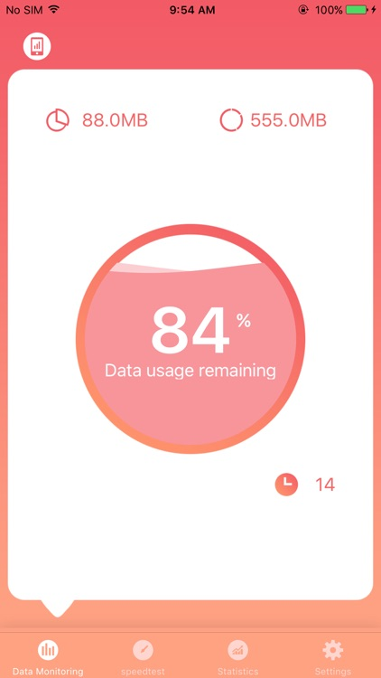 Cellular Data Usage Tracker