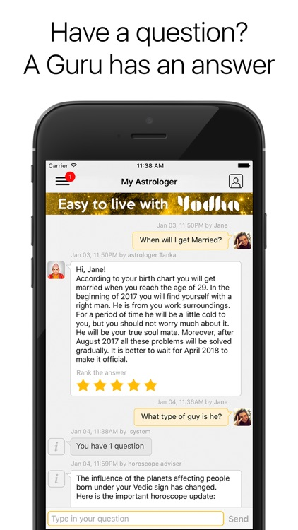 Yodha Astrology Love Horoscope Vs Daily Horoscopes app image