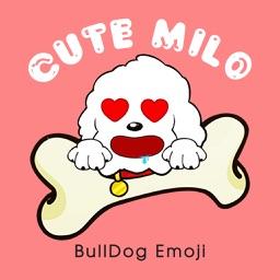 Cute Milo - BullDog Emoji & Sticker Pack