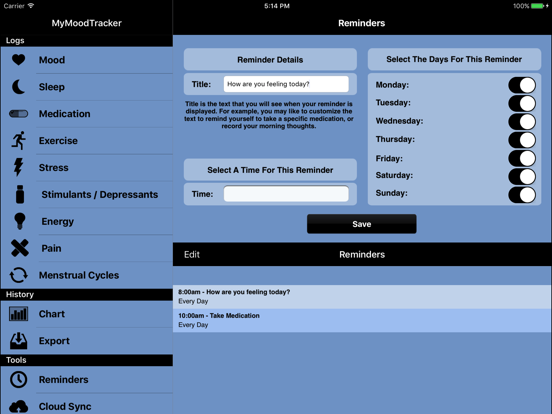 MyMoodTracker for iPad | App Price Drops