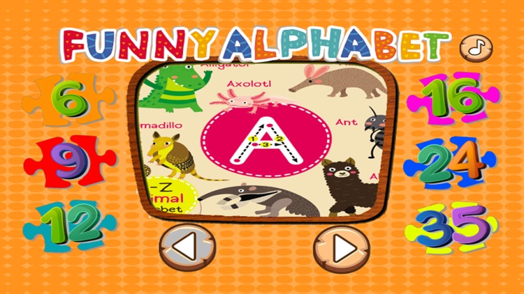 ABC ZOO Alphabet Jigsaw Puzzle Kids Games Learning screenshot-0