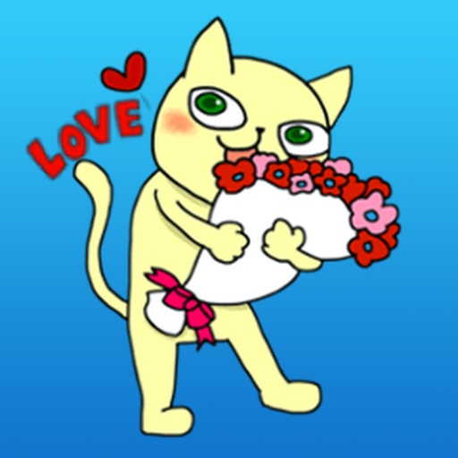 Cutie Cat For Romantic Valentine's Day Sticker