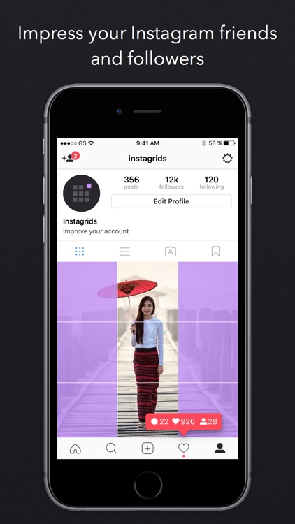 Instagrids Pro - Crop Photos For IG Profile View screenshot-4