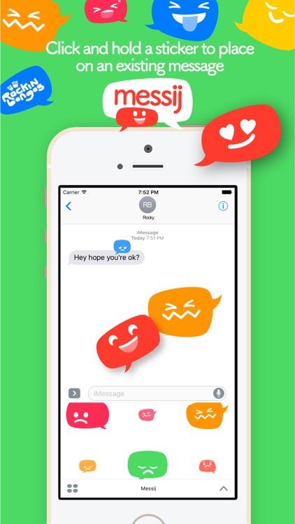 Messij, Emoji stickers for iMessage screenshot-3