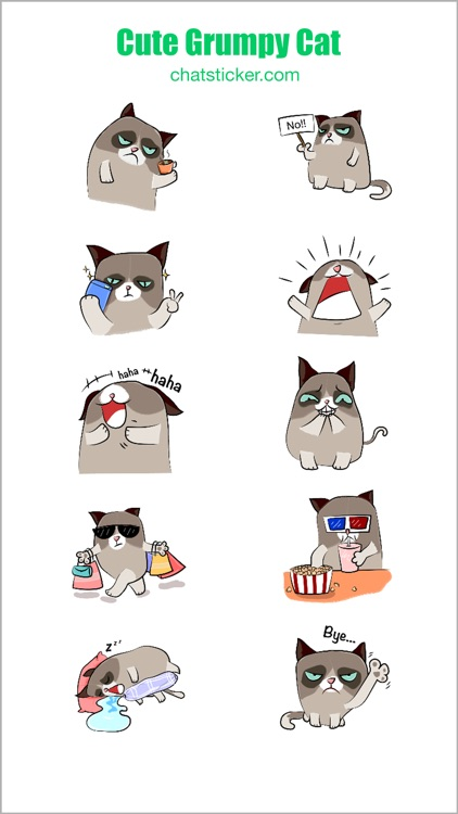 Cute Grumpy Cat screenshot-4