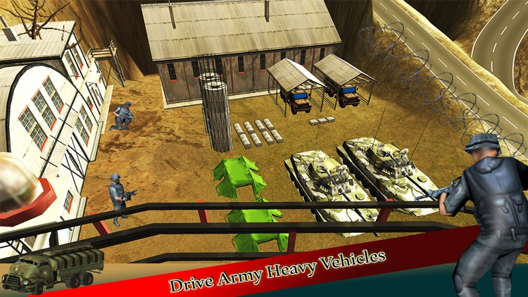 Heavy Off-road Army Truck Driver Parking Simulator screenshot-4