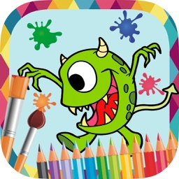 Monsters and robots to paint - coloring book