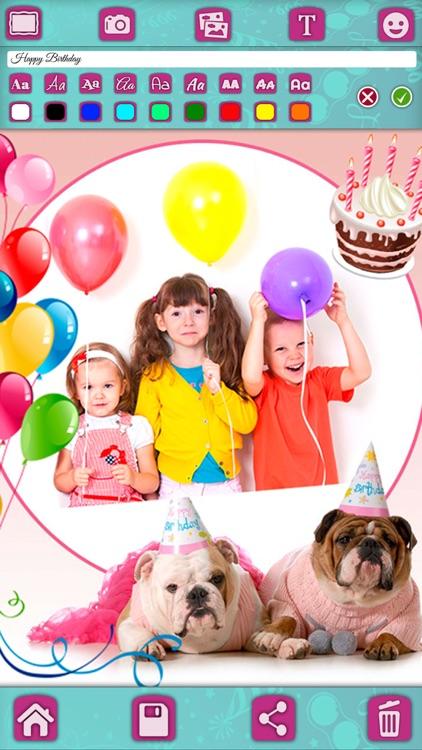 Birthday greeting cards & stickers – Photo editor screenshot-3