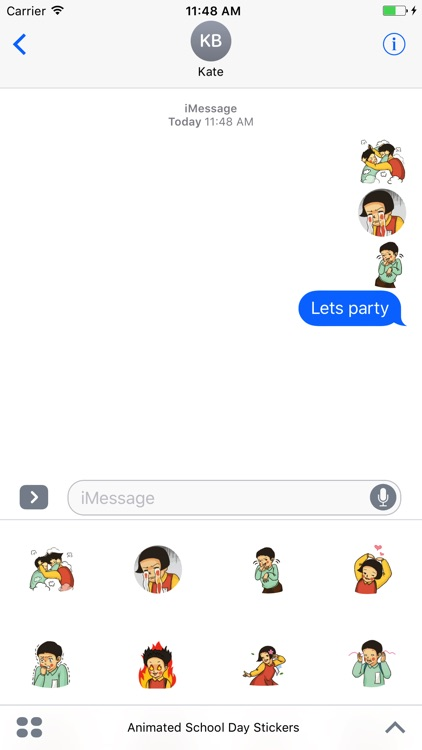 Animated School Day Stickers For iMessage screenshot-2