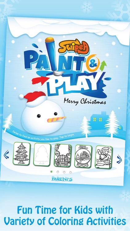 Paint & Play Christmas, Coloring Book For Kids screenshot-1