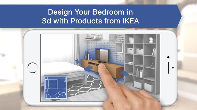 3D Bedroom for IKEA: Room Interior Design Planner