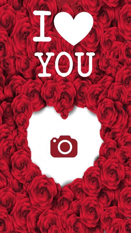 I Love You Photo Frames - Heart Effect Card Editor - Online