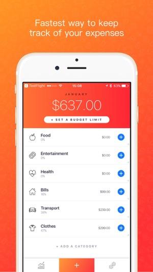 blinq simple expense tracker spendings analytics on the app store