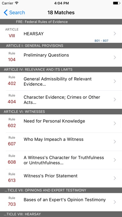 Federal Rules of Evidence (LawStack's FRE) screenshot-4