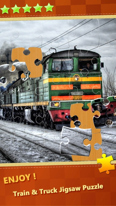 Trucks & Train Transportation Jigsaw Puzzles Tiles