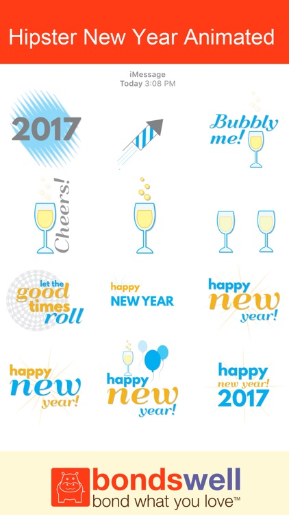Hipster New Year Animated