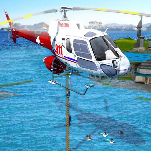 911 Скорая помощь спасание Вертолет Симулятор Игра