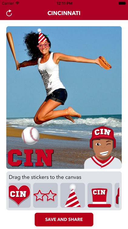 Cincinnati Baseball Stickers & Emojis