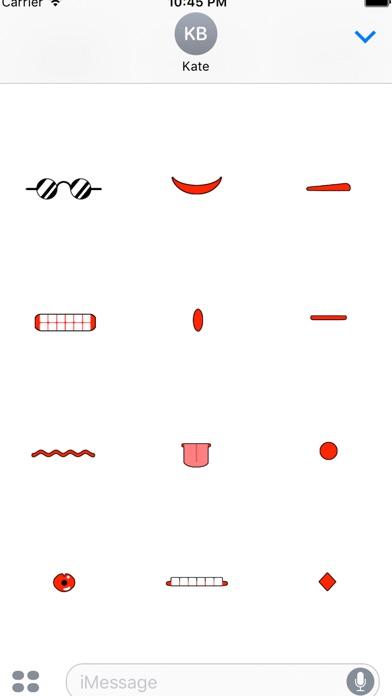 fukuwarai(福笑い)animal stickerのスクリーンショット4
