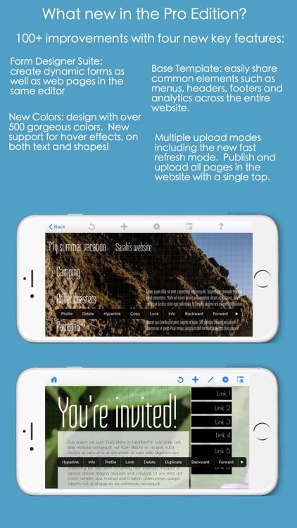 HTML Egg Pro Website Designer for iPhone screenshot-3