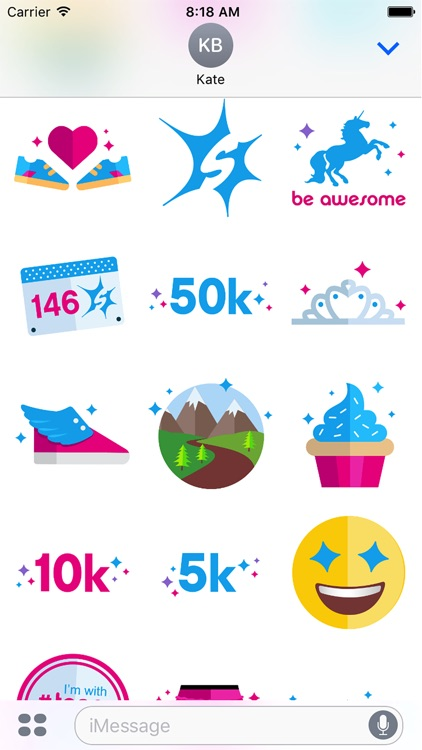 Sparkle Athletic Running Stickers screenshot-3
