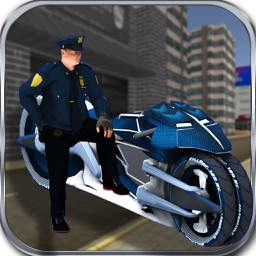 Sci-Fi Police Bike Crime Chase & Riding Simulator
