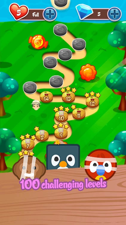 Cute Safari: Match 3 Puzzle screenshot-3
