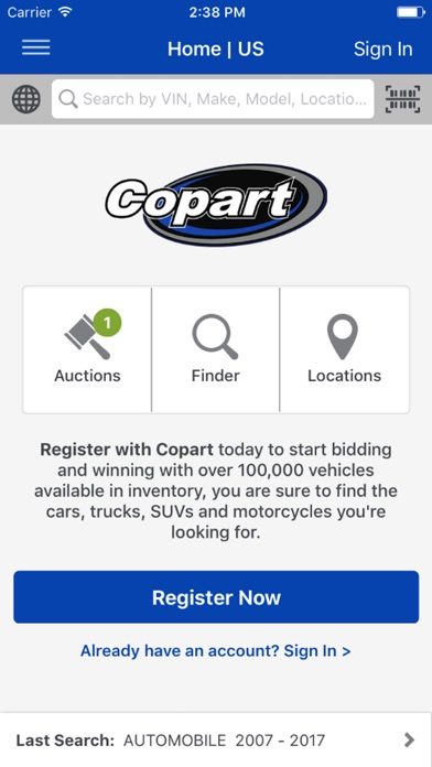 Copart - Salvage Car Auctions for Windows