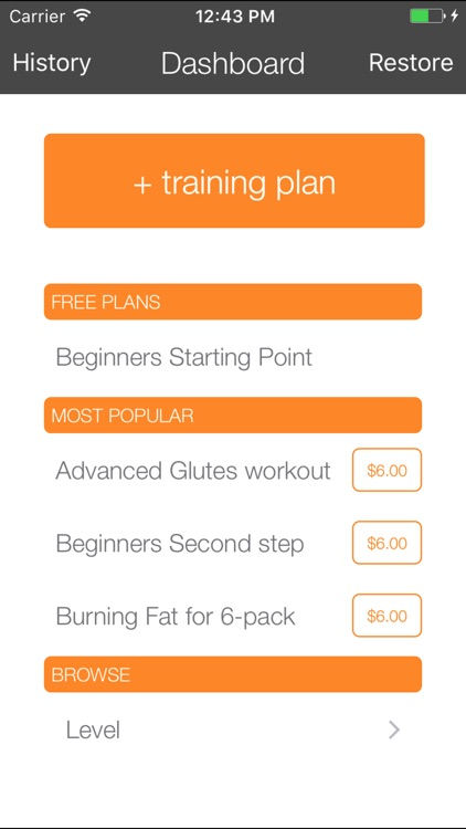 Gymly - gym workout tracking app