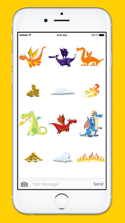 Cute and Funny Dragons and Treasure Sticker Pack screenshot-3