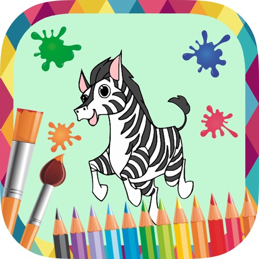 Animals to paint - coloring book to draw