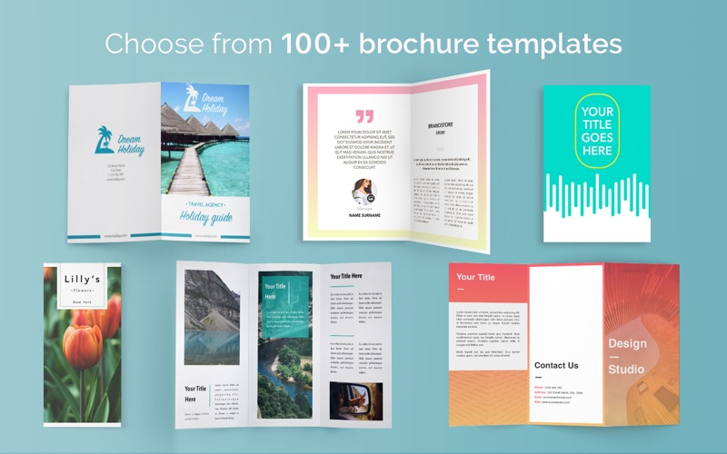 Brochure Templates 100 Brochures For Pages App Price Drops