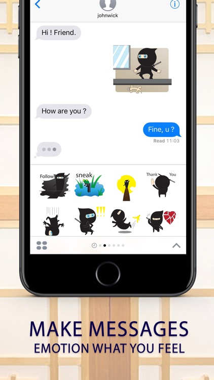 Ninja boy Stickers for iMessage