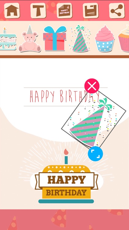 Birthday greeting cards and stickers – Pro