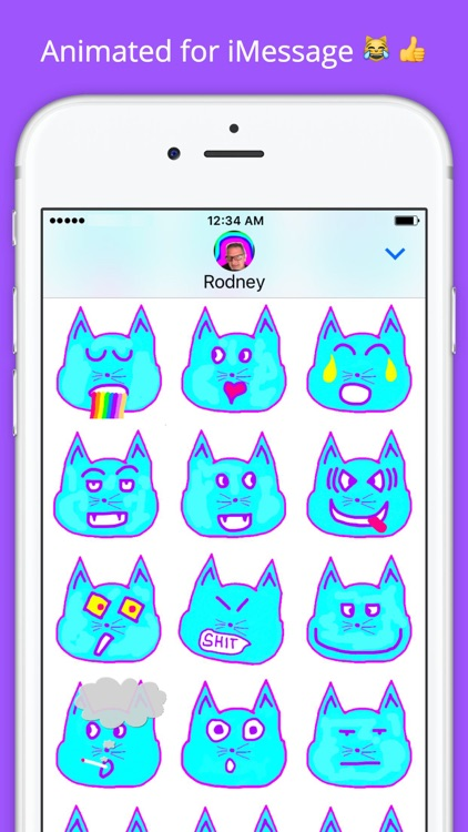 Emoji Kitty - Animated Cat Emojis Stickers screenshot-3