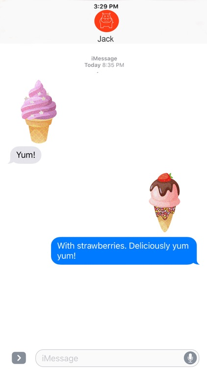 Yummy Ice Cream - Glittered Stickers