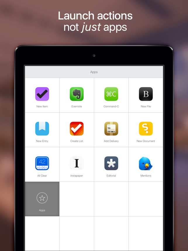 Launch Center Pro for iPad Screenshot