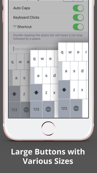 Larger Keyboard – Type Faster w Bigger XL Keys