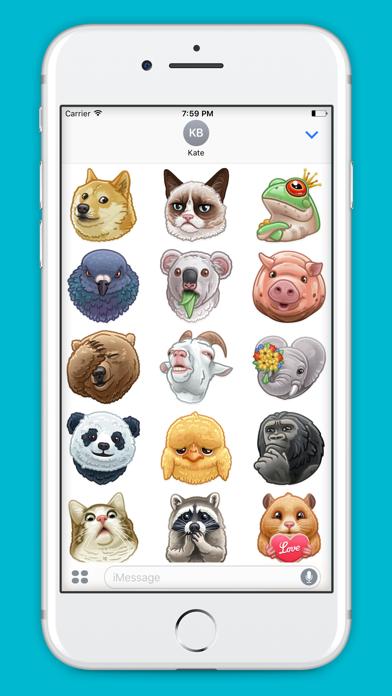 Animal-Stickers screenshot 2