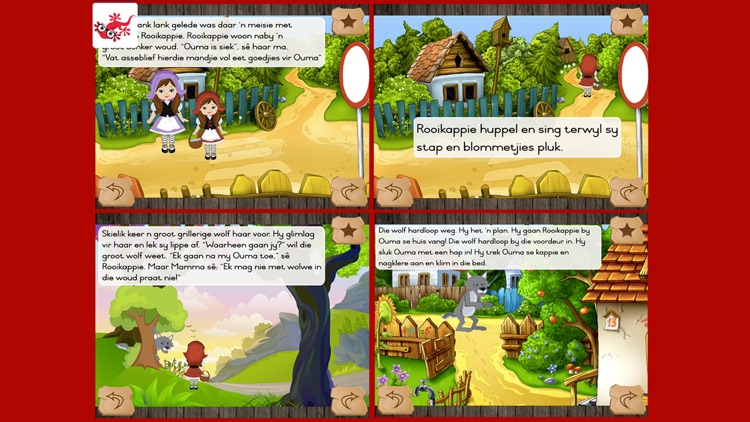 Rooikappie kinderstorie in afrikaans