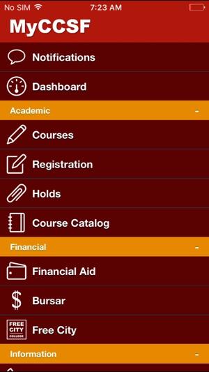 MyCCSF on the App Store