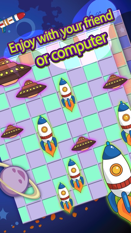 Checker Board Spaceship Puzzle Style Pro app image