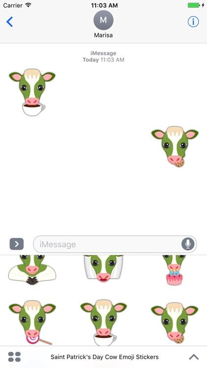 Saint Patrick's Day Cow Emoji Stickers screenshot-4