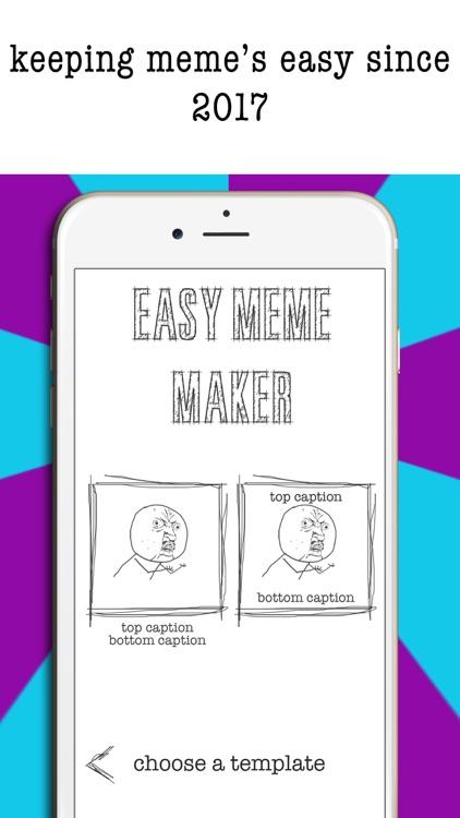 Easy Meme Maker- Funny Meme Creator & Editor Pics